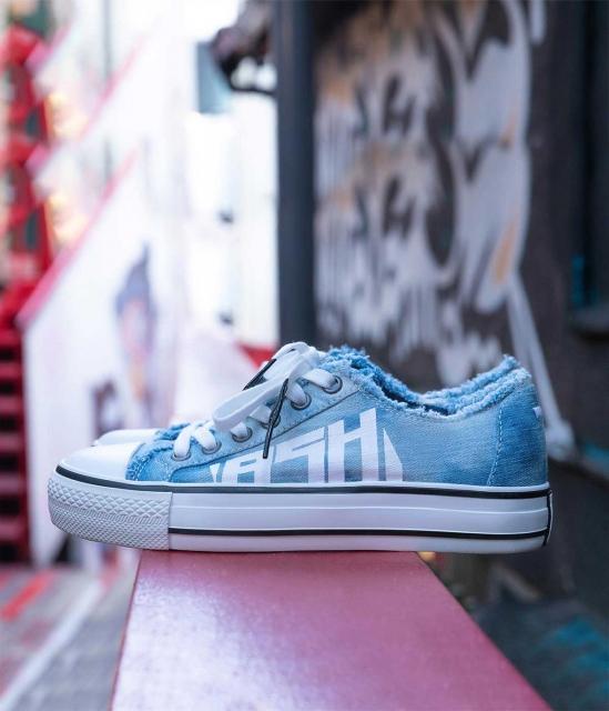 ASH女鞋2019秋季新款VIKI低帮设计字母logo复古加硫鞋帆布鞋