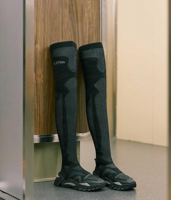 ASH女鞋2019秋季新款FERN系列时尚潮流过膝靴袜套老爹鞋