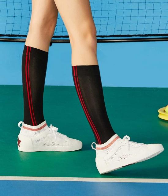NOLITA系列时尚编织拼色袜套休闲运动小白鞋