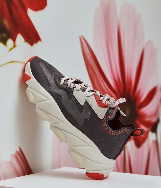 女鞋2020春季新款ECLIPSE透明蟬翼網紗撞色厚底增高運動老爹鞋