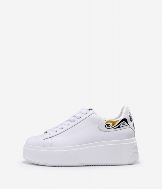 女鞋2020春季新款MOBY MASK系列时尚简约厚底鸳鸯增高小白鞋女