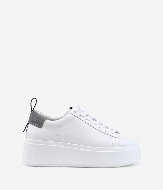 ASH女鞋2019春季新款MOON系列灰色尾标厚底时尚增高小白鞋