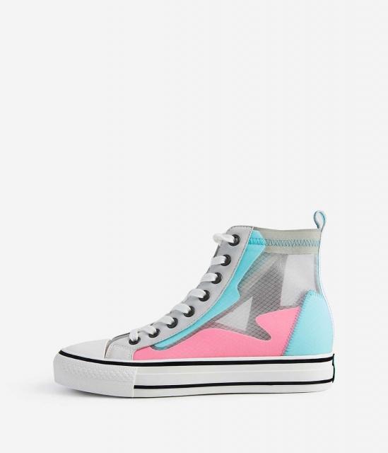 ASH女鞋2020春季新款GASPER透氣網布設計高幫側拉鏈加硫厚底鞋