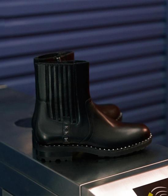 ASH女鞋2019秋季新款马丁靴WHISPER休闲时尚牛皮低跟短筒切尔西靴