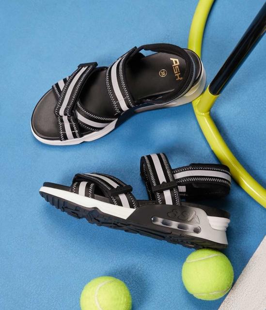 LEWIS系列莱卡荧光饰带气垫底休闲运动凉鞋