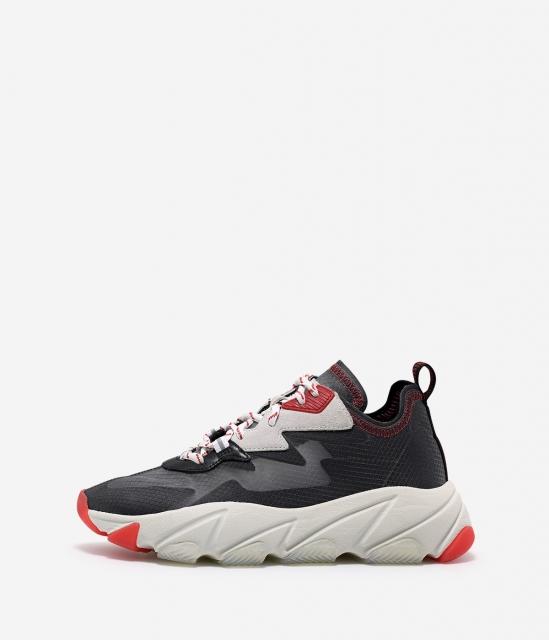 女鞋2020春季新款ECLIPSE透明蝉翼网纱撞色厚底增高运动老爹鞋